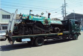 建設機械運搬イメージ